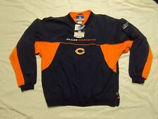 Chicago Bears Pullover Jacket Reebok Adult Large New With Tags!!
