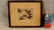 Antique 1931 Frank Benson Bunch Of Bluebills Duck Etching