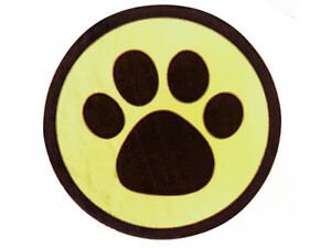 """25 Black Paw Print On Gold 1-1/2"""" Round Foil Seals Holiday Gift Cards Envelopes"""
