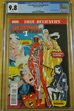 TRUE BELIEVERS 1 CGC 9.8 REPRINTS NEW MUTANTS #98 1ST APPEARANCE OF DEADPOOL 87