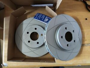 2x ATE 24.0324-0161.1 Brake Disc Front Axle for Ford Mondeo III Jaguar X Type