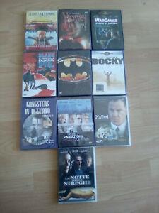 LOTTO 10 DVD originali ,vari generi  8 SIGILLATI E 2 APERTI