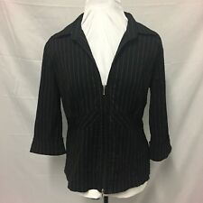 womens Blouse Black & White Stripe. Size 2XL. Excellent Condition. Zip Opening