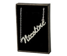 NICOLINE 18ct White Gold Plating Necklace With Name - Anniversary Neckless Gifts