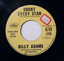 Rockabilly BILLY ADAMS Peggy's Party / Count Every Star on Capitol Promo 45 VG++