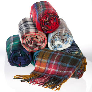 Ingles Buchan Made in Scotland 100% Lambswool Clan Scarf 57 Clans Available