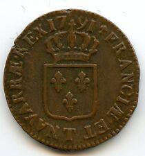 Louis XVI (1774-1792) Sol dit à l'écu 1791 T Nantes Qualité & Rare