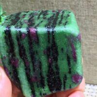 Natural Red and Green epidote Crystal Rough Raw Gem Stone Healing 144g  b3231