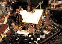 Kirchen Motiv-Postkarte Kirche DRESDEN Frauenkirche Neubau Luftaufnahme Luftbild
