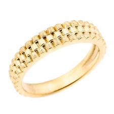 Solid Gold Watchband Design Unisex Wedding Band 14K (Yellow/Rose/White)