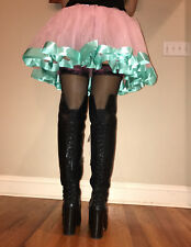 Satin Tulle Tutu Sissy Men's Crossdress Skirt 28 - 42 inch waist