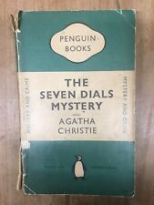 Vintage Penguin Book Paperback The Seven Dials Mystery Agatha Christie Green
