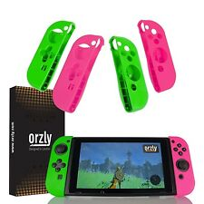Nintendo Switch Joy-Con Controller Case Cover Quad-Pack Pink/Green By Orzly