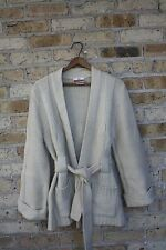Vintage~Koret of California~Sweater~Large~Cardigan~Cream~Cable Knit