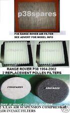 RANGE Rover P38 1998-2002 Filtro Aria & 2 x Filtri Polline & 2 x EAS FILTRO PADS