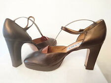 "Court Shoes Sandals "" Gold-Bronze "" P. Verdi by Casadei Italy T.39"