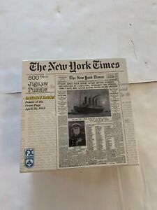 FX Schmid 500 Piece Puzzle New York Times Titanic Sinks W/ Poster  SEALED NWOT