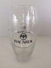 Bacardi Football Shaped Drinking Glass With Famous Bat Logo