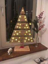 Weihnachtsbaum / Tannenbaum beleuchtet aus Palette - Shabby Chic  - ca. 63 cm