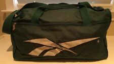 Vintage 80s 90s REEBOK Green Nylon Duffle Gym Carry-On Luggage Bag 18""