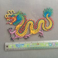 Beautiful Colorful Chines Dragon Large Back Patch Embroidered Sew Iron On Shirt