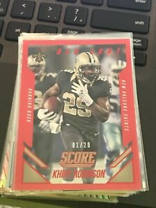 2015 Score Red Zone #59 Khiry Robinson #1/20 made saints!