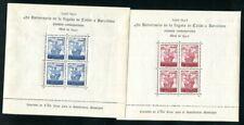 SPANIEN BARCELONA 1943 BLOCK11-12 ** POSTFRISCH COLUMBUS (F4273