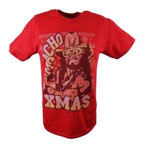Macho Man Randy Savage Xmas WWE Mens Red T-shirt