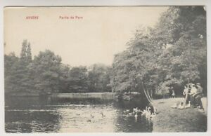 Belgium postcard - Anvers, Partie du Parc - Advert on back for Kavalier (A4)