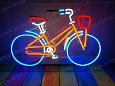 New Bike Bicycle Shop Open Glass Neon Light Sign Lamp Beer Bar Acrylic 14""
