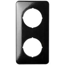 Abdeckrahmen eckig 2 fach Bakalit schwarz für Dimmer und Kombigeräte  THPG