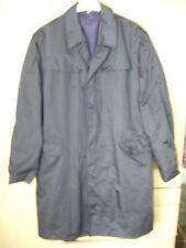 hochwertiger Nylon Regenmantel Mantel 60er JahrenTrue Vintage dunkelblau neuwert