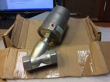 "ESG PNEUMATIC ANGLE SEAT VALVE JF90132YN 316 SS 1-1/4"" ABOVE SEAT NEW SALE $179"