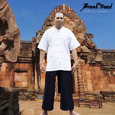 Kung Fu / Tai Chi / Yoga / Meditation Hemd aus 100% Baumwolle Farbe Weiss 20700