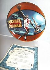 1998 Upper Deck MICHAEL JORDAN his airness 5 Time NBA MVP Bradford Ex Plate
