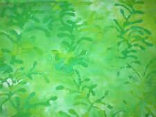 1 yard BATIK Green  Cotton Quilt Fabric