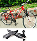 MTB Road Bike Bicycle Cycling Front Mudguard + Rear Fender Mud Guard Set Black