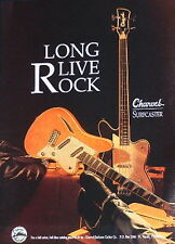1992 Charvel Surfcaster electric and bass guitars photo print Ad