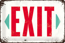 Exit Ausgang Notausgang Retro Blechschild 20x30 cm 22218