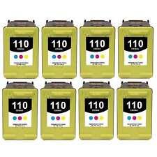 8-PACK Remanufactured HP 110 Color Ink Cartridge Set for PhotoSmart A827 Printer