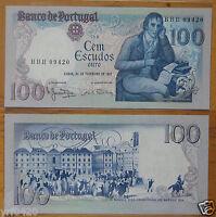 Portugal 100 Escudos Paper Money 1981 UNC