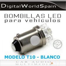 BOMBILLAS T10 CASQUILLO BAYONETA 6 LEDS BLANCO LUZ DE POSICION E INTERIOR
