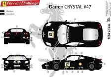 "[FFSMC Productions] Decals 1/24 Ferrari F-430 Challenge ""Darren Crystal""  2011"