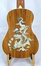 Alulu Solid Acacia Koa Baritone Guitarlele,Dragon pattern inlaid,HUA611