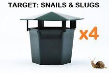 4 x Snail Slug Reusable Bait Station Eco Friendly Garden Pests Insects Trap