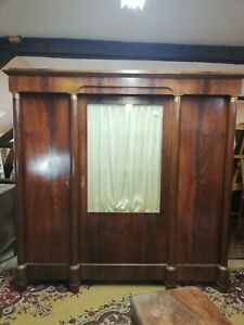 Armoire 3 portes marquéterie Wardrobe with 3 marquetry doors
