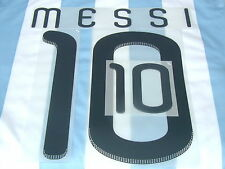 Lextra Official Player Issue Messi 10 Argentina World Cup Name & Dual Number Set