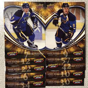 St. Louis Blues 2008/08 Power Play Box Team Set (10)