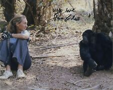 JANE GOODALL SIGNED AUTOGRAPHED COLOR 8X10 PHOTO