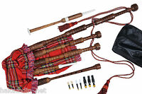 Scottish Great Highland Rosewood Bagpipe Full Size (Beginners Starter Package)